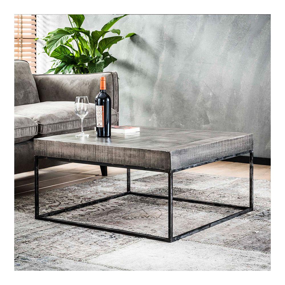 Nouvomeuble Table basse carrée en bois DAYTON