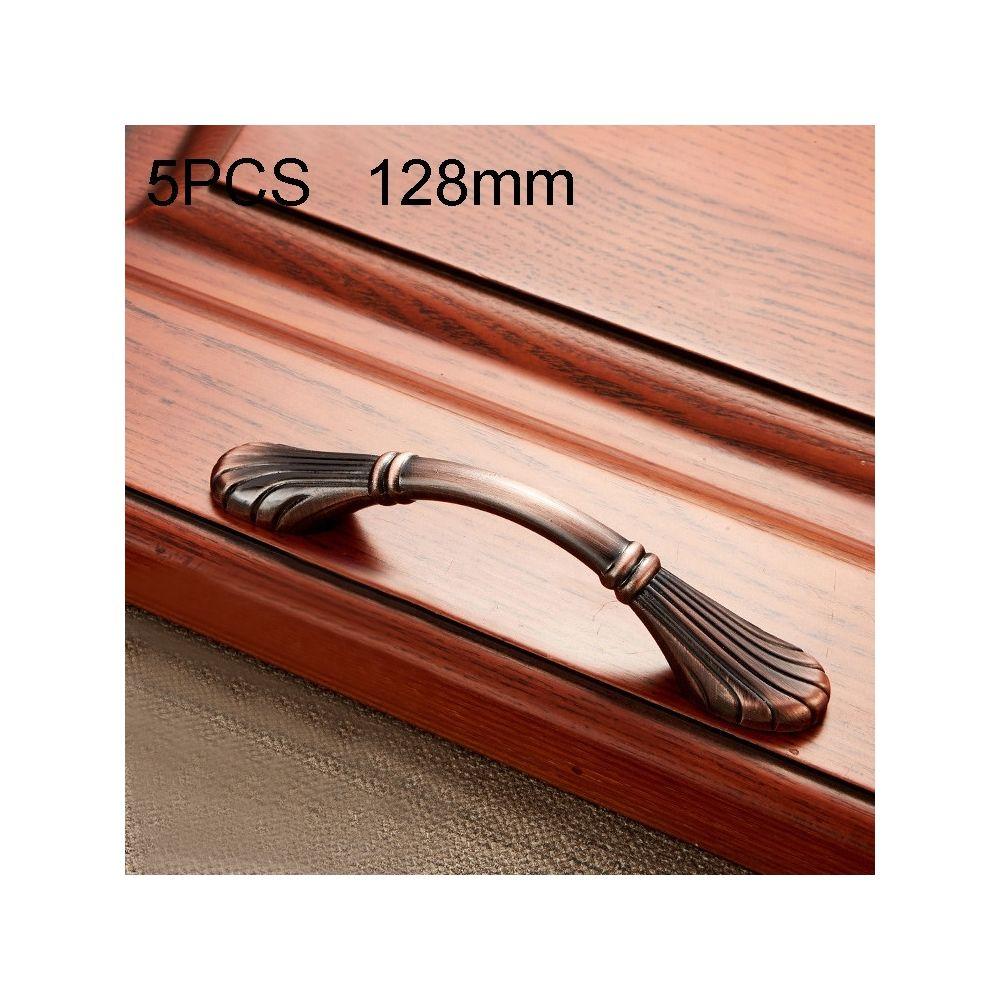 Wewoo Poignée d'armoire 5 PCS 6029-128 de meuble en bois massif poignées bronze rouge