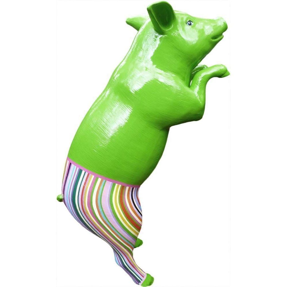 Texartes Cochon design avec pantalon coloré en résine