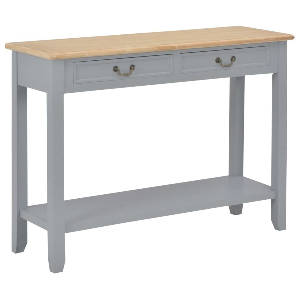 Uco UCO Table console Gris 110x35x80 cm Bois