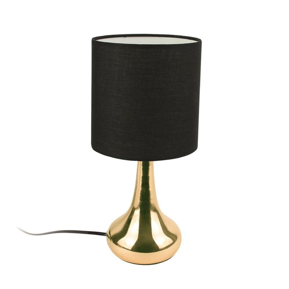 The Home Deco Factory Lampe de chevet design Touch - H. 32 cm - Noir