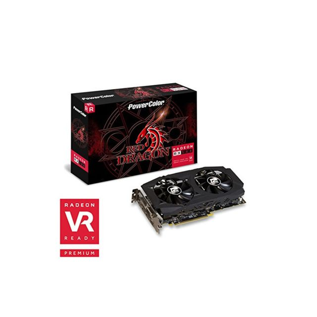 Powercolor - Carte graphique PowerColor Radeon RX 580 Red Dragon V2, 8192 MB GDDR5 - Carte Graphique AMD