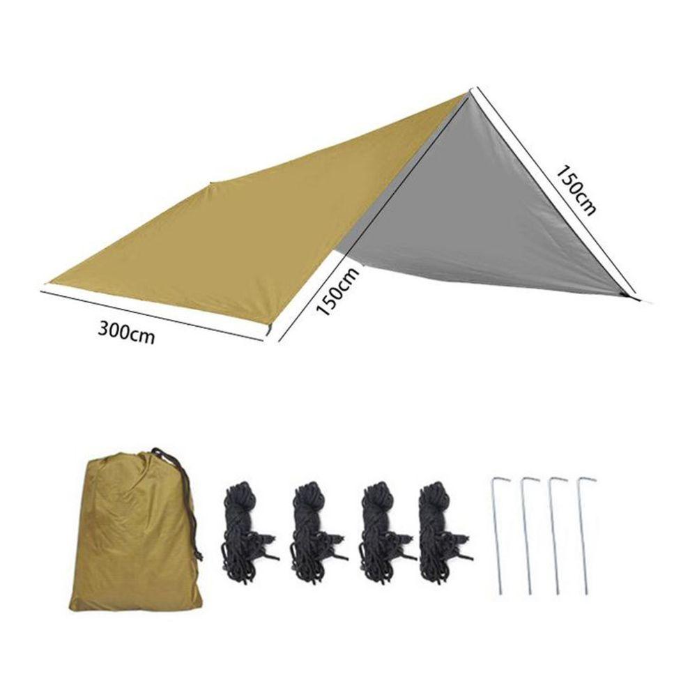 Generic Tissu d'ombre extérieur de protection solaire imperméable de tapis de pique-nique à quatre coins @7e edition1