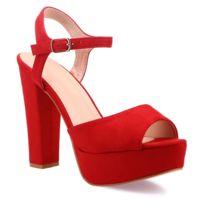 432c9be400e2 Chaussure plateforme rouge - catalogue 2019 - [RueDuCommerce ...