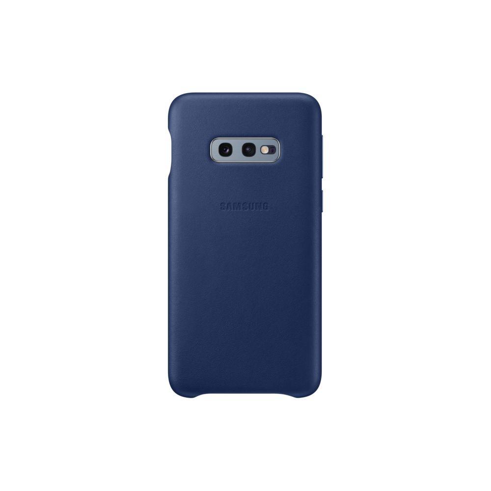 Samsung - Coque Cuir Galaxy S10e - Bleu Marine - Coque, étui ...
