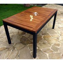 Table de jardin en bois imputrescible - Achat Table de ...