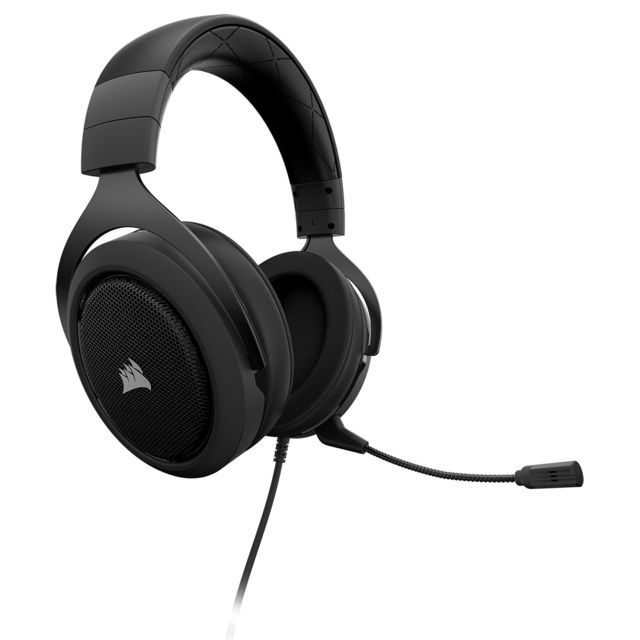 Corsair - HS60 PRO STEREO carbone - Filaire Corsair   - Micro casque reconditionné