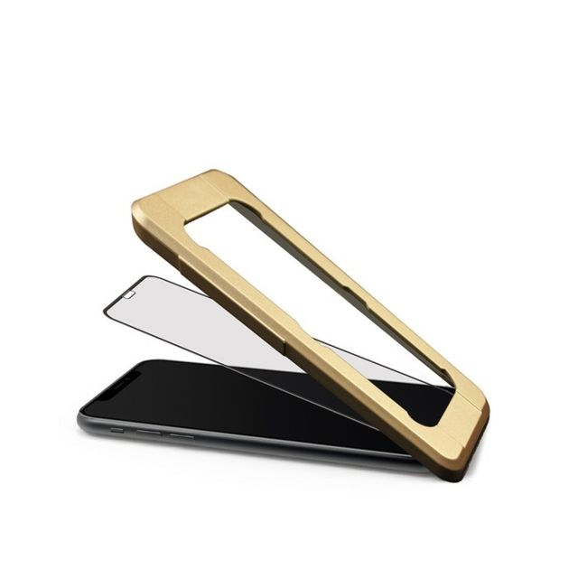 Muvit - Tiger Glass Plus - Verre trempé Noir iPhone XS Max - Protection écran smartphone