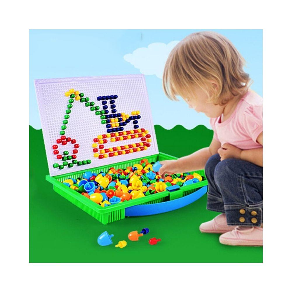 Wewoo Jeu d'éveil 296 en 1 / Set Petite Enfance Éducative Creative DIY Bureau Champignon Nail Puzzle Toy
