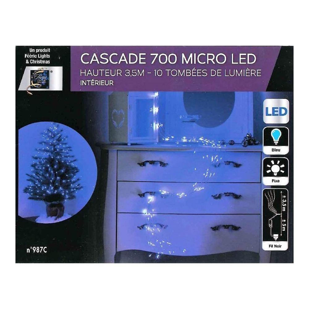 JJA Guirlande copper cascade 700 LED bleues