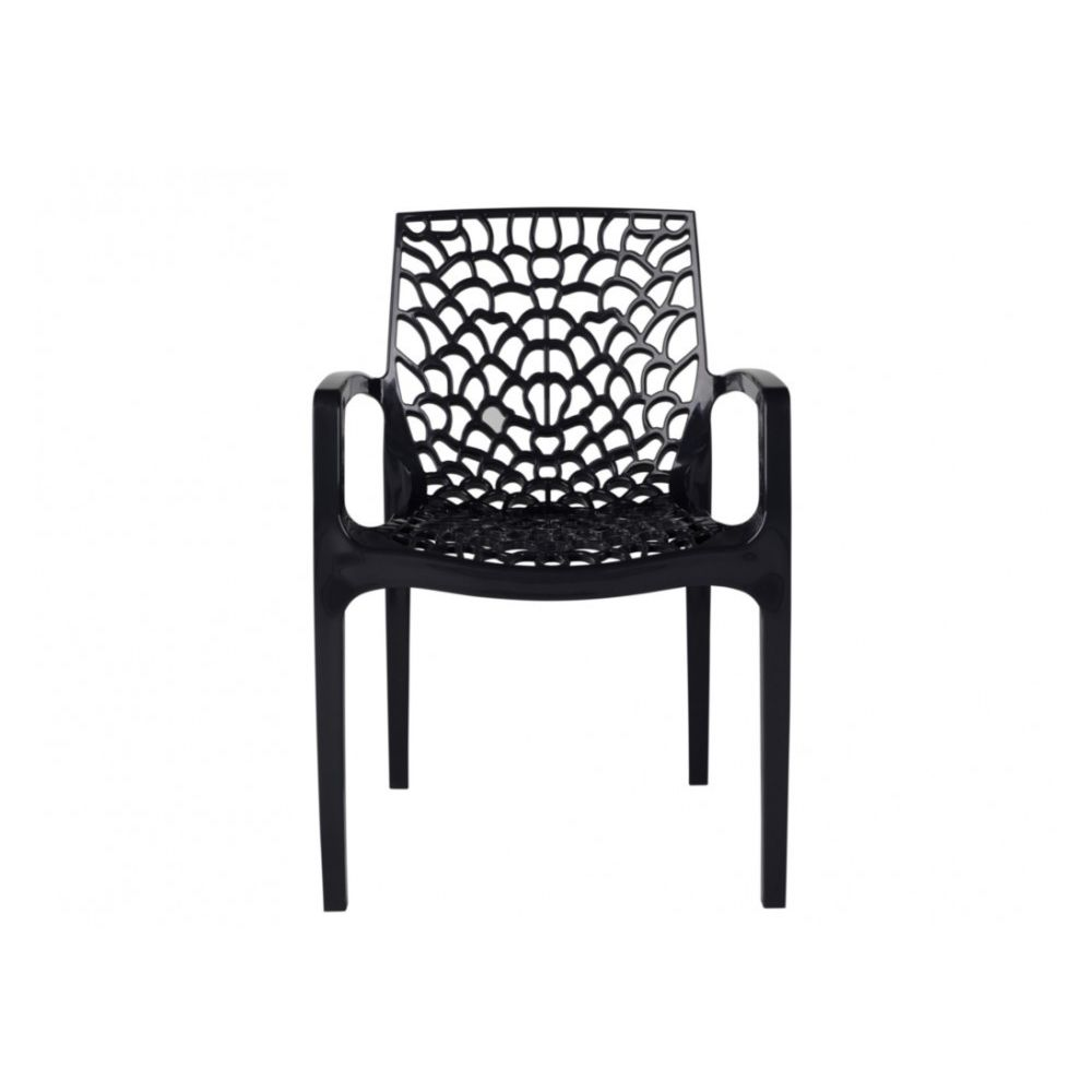 Rue Du Commerce - fauteuils de jardin empilables GRUVYER - Polypropylène -  Gris anthracite