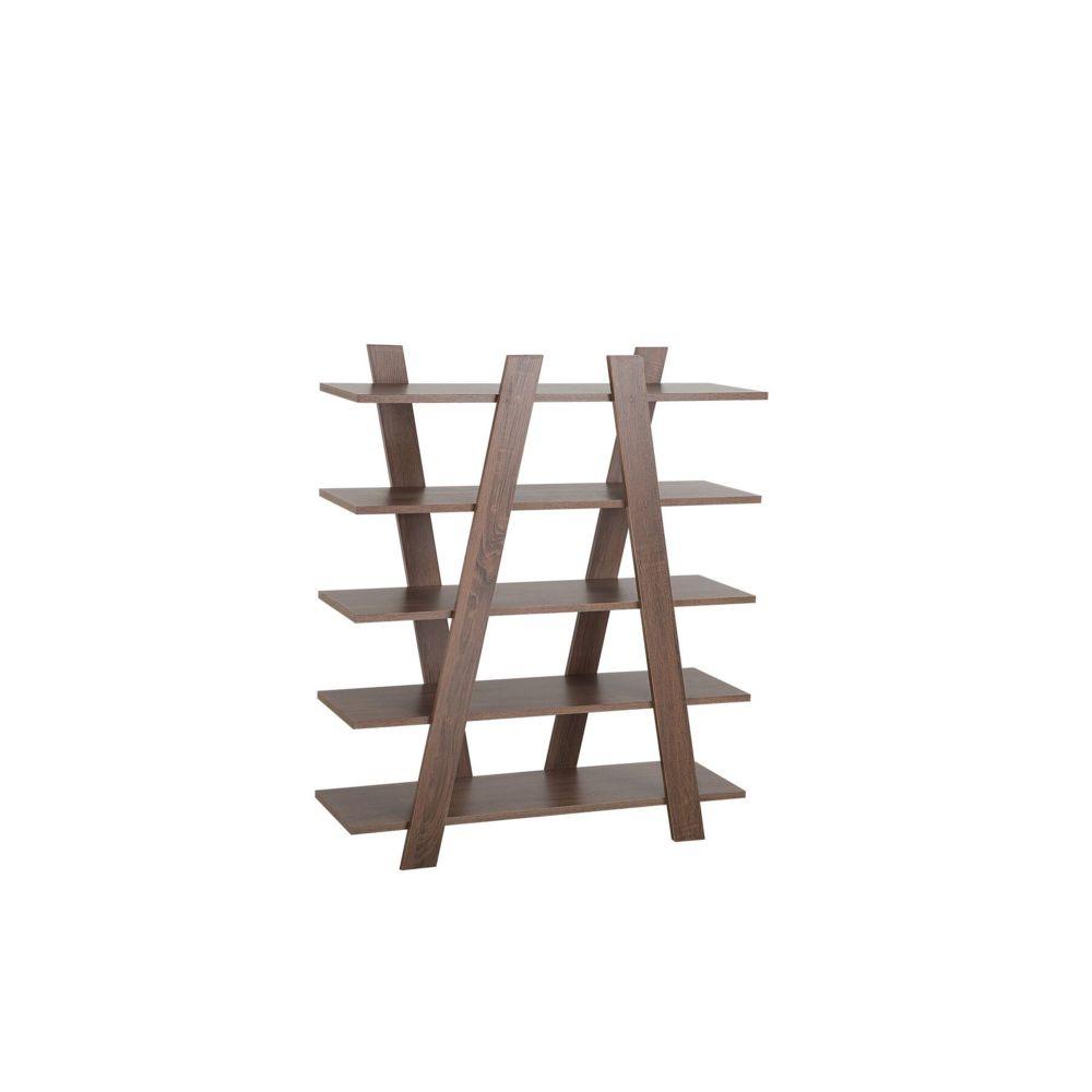 Beliani Beliani Étagère 5 étages en bois foncé ESCALANTE - blanc