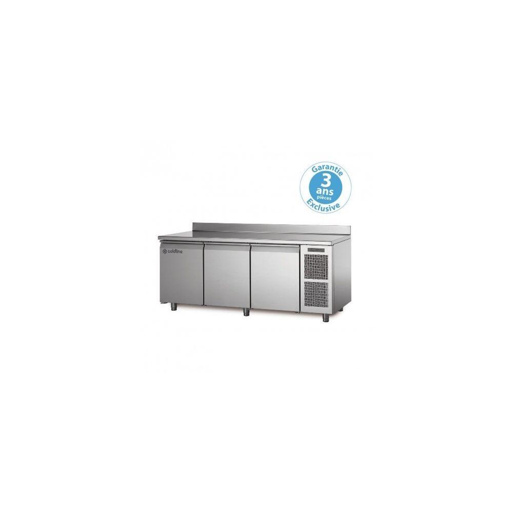 Materiel Chr Pro Table réfrigérée négative - groupe logé - 3 portes - 415 litres - profondeur 800 - 600 x 400 - avec dosseret -