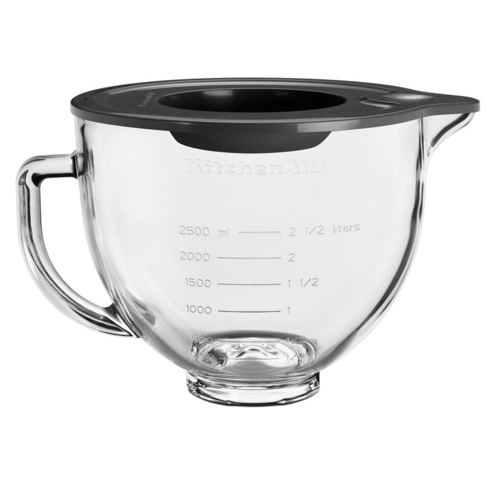 Kitchenaid kitchenaid - bol en verre 4.7l pour robot pâtissier - 5ksm5gb