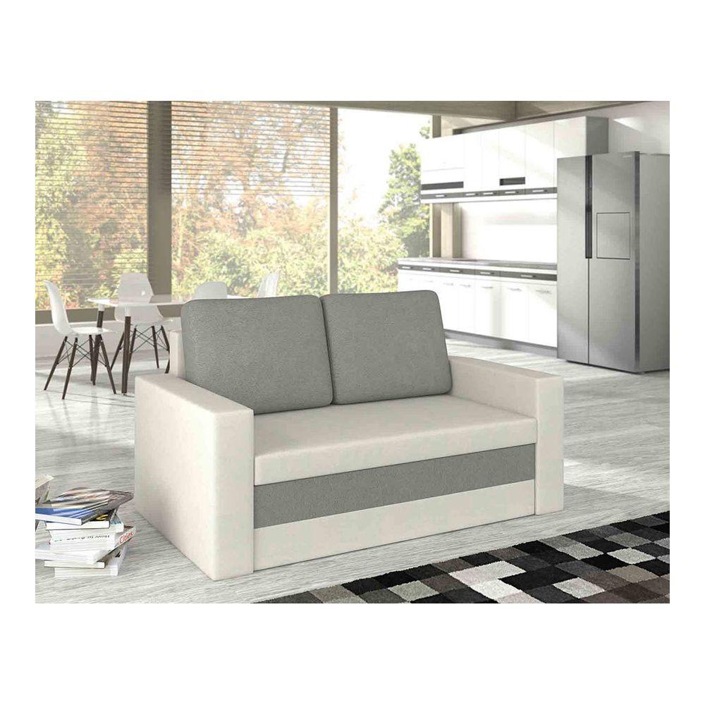 Kasalinea Canapé convertible blanc et gris YANN 3