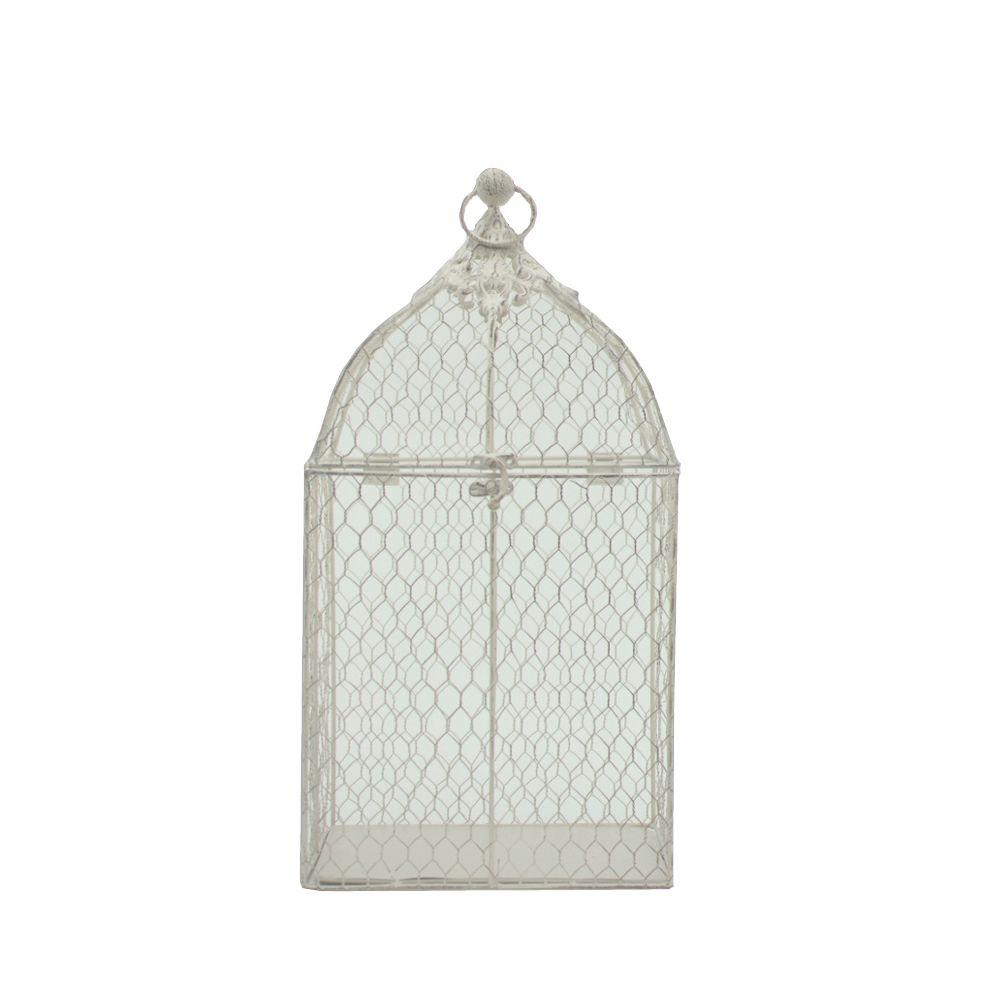 L'Originale Deco Cage à Oiseaux de Déco Rectangle Rectangulaire Blanc 46 cm