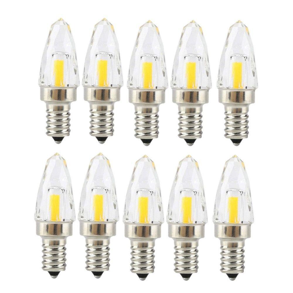 Wewoo 10 PCS E12 4W COB LED Ampoule en verre à filament d'éclairageAC 110-130V blanc chaud