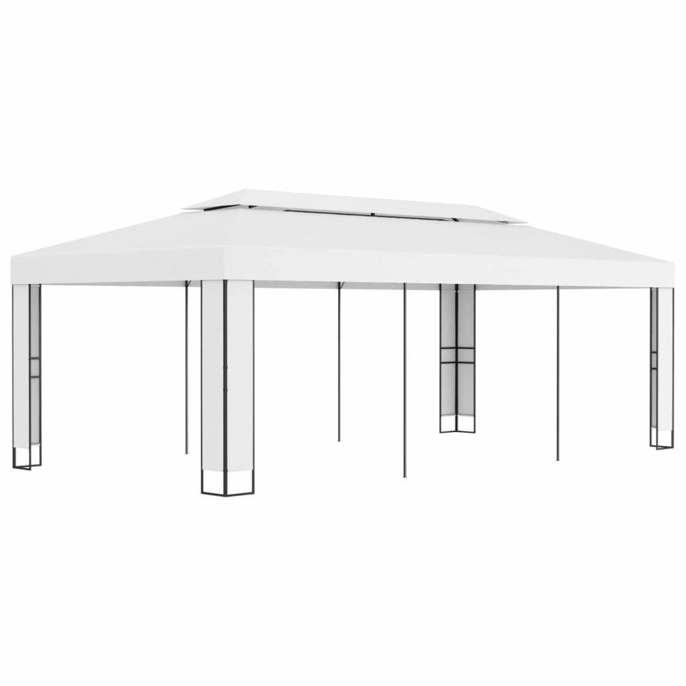 Uco UCO Tonnelle avec toit double 3x6 m Blanc
