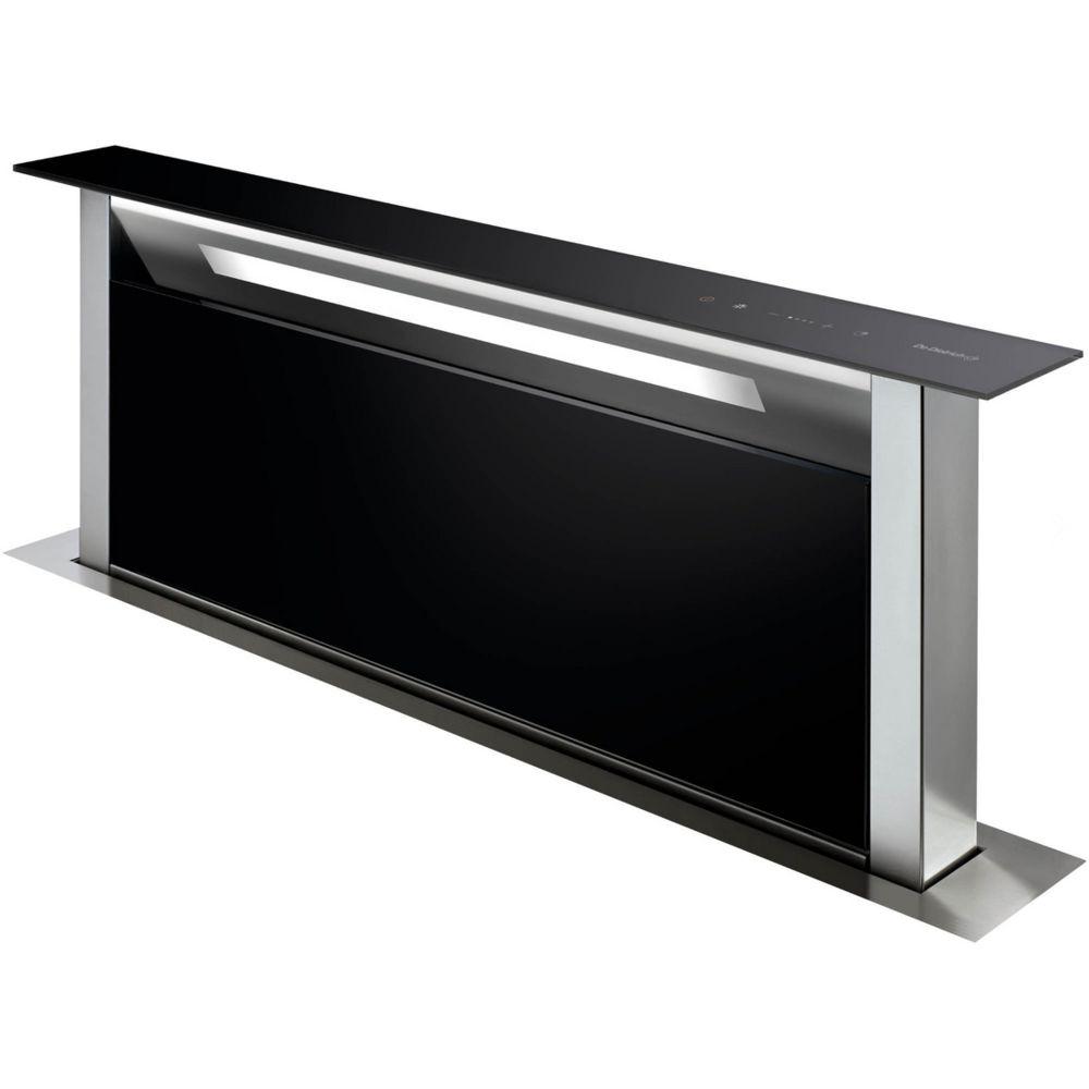 De Dietrich de dietrich - hotte plan de travail 90cm 503m³/h verre noir/inox - dhd7961b