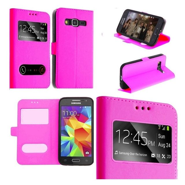 marque generique - Etui Housse Coque Pochette Interieur Silicone Rose Samsung Galaxy Ace 4 G357 - Coque Samsung Galaxy Ace