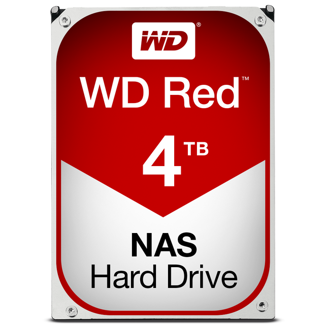 Western Digital - WD RED 4 To - 3.5'' SATA III 6 Go/s - Cache 64 Mo - Rouge - Disque Dur interne