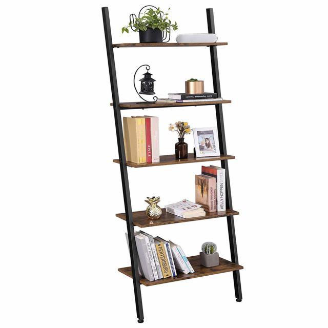 etagere echelle de style industriel bibliotheque meuble de rangement a 5