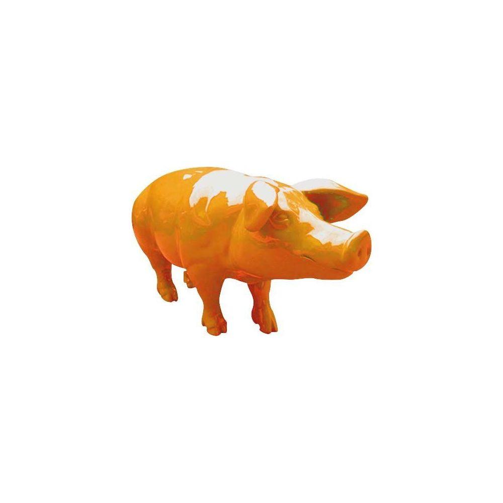 Texartes Cochon coloré design en résine