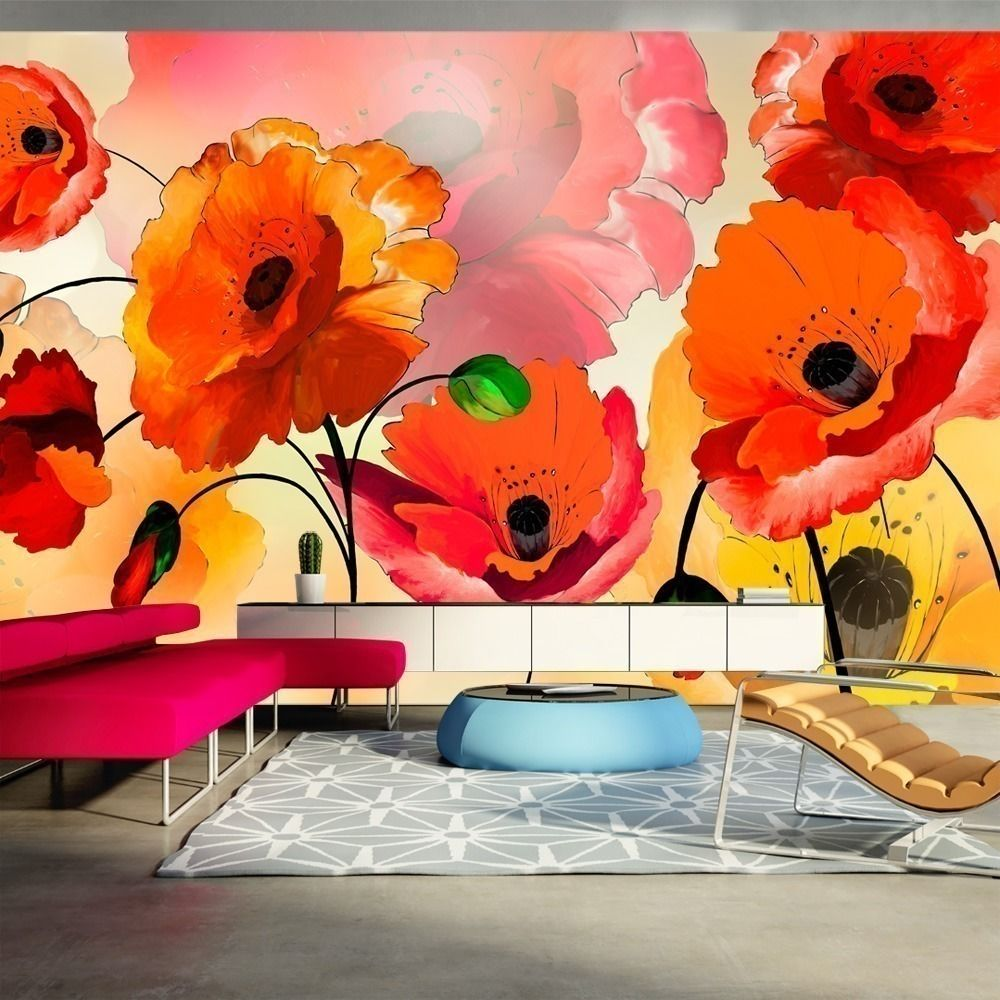 Artgeist Papier peint XXL - Velvet poppies