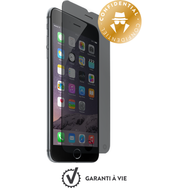 Force Glass - Verre trempé iPhone 6s - Privacy - Protection écran smartphone