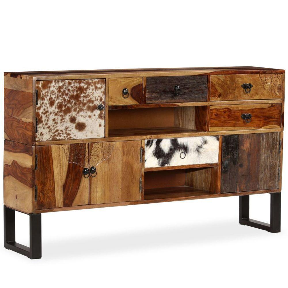 Helloshop26 Buffet bahut armoire console meuble de rangement bois massif de sesham 140 cm 4402027