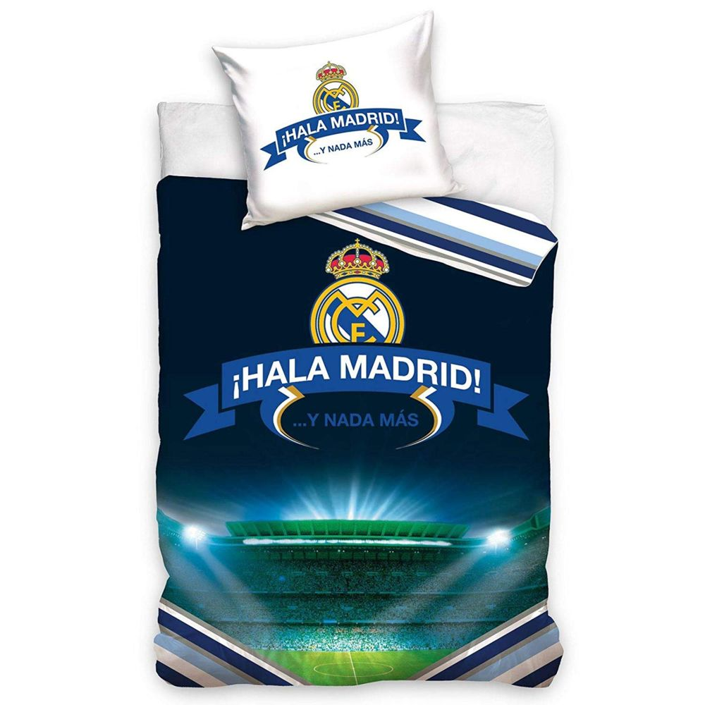 Bebe Gavroche Parure de lit logo Real Madrid Hala 100% coton 140 x 200 cm