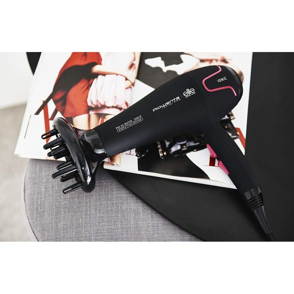 Rowenta Sèche cheveux Infini Pro Elite 2200W rose noir