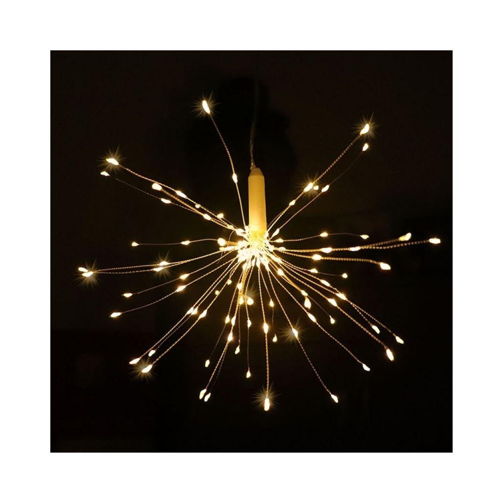 Wewoo Guirlande LED forme de bouquet pliable guirlandes feux d'artifice à piles décoratifs pour patio mariage (blanc chaud)