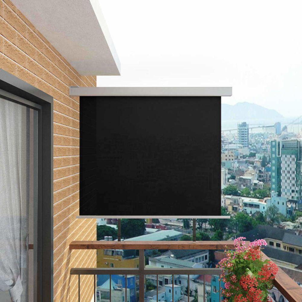 Vidaxl Auvent latéral de balcon multifonctionnel 150 x 200 cm Noir - Vie en extérieur - Pelouses et jardins | Noir | Noir