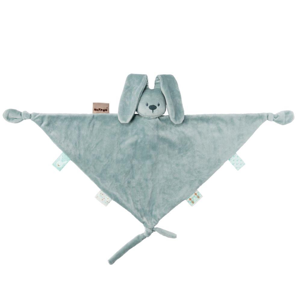Nattou Maxi doudou vert de gris Lapidou - Nattou
