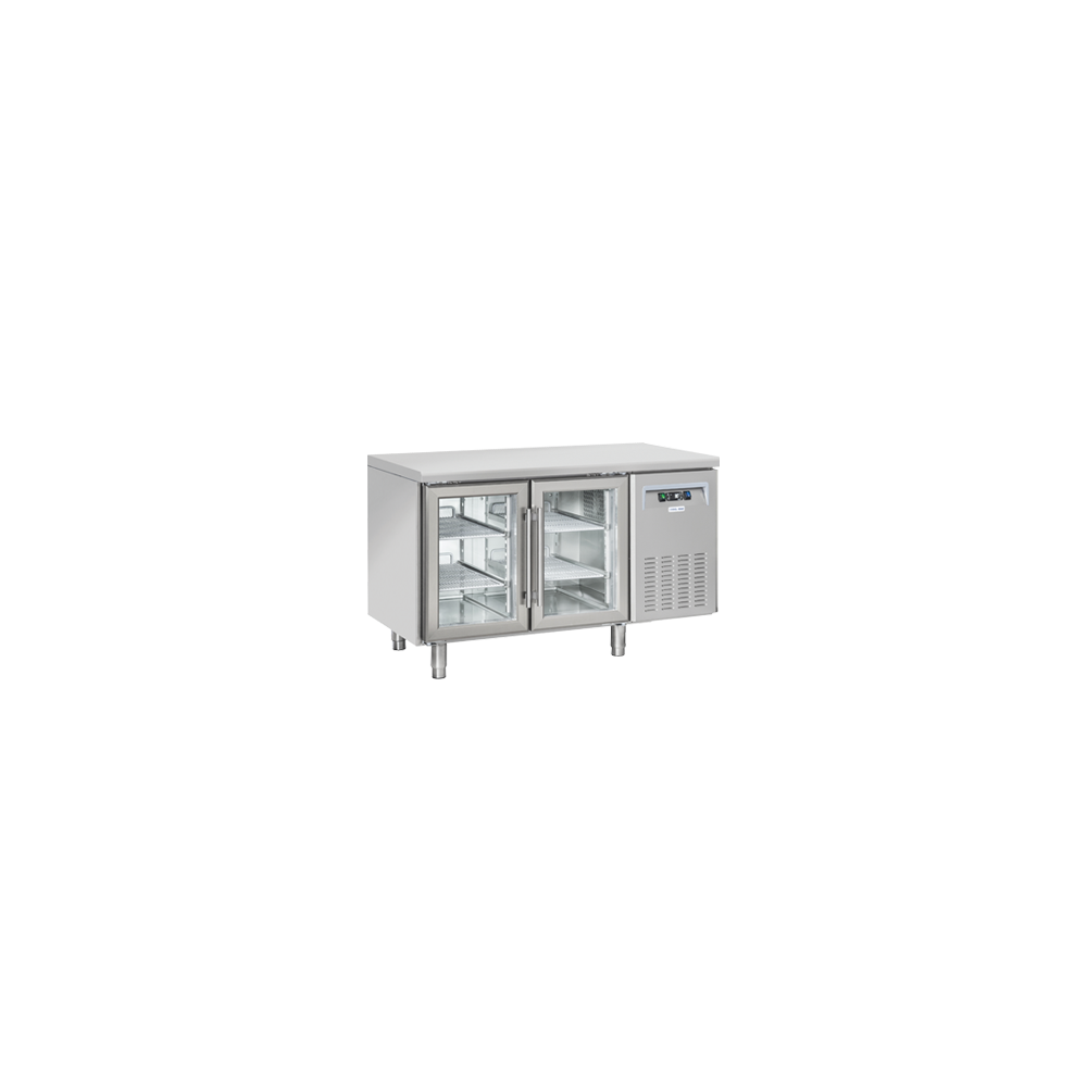Materiel Chr Pro Table Réfrigérée Positive Vitrée Profondeur 625 - 2 Portes - Cool Head - R290A 625 m