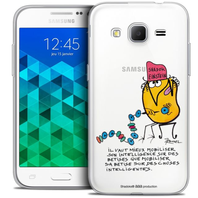 Coque Housse Etui Samsung Galaxy Core Prime (G360) [Crystal HD Collection Les(...)