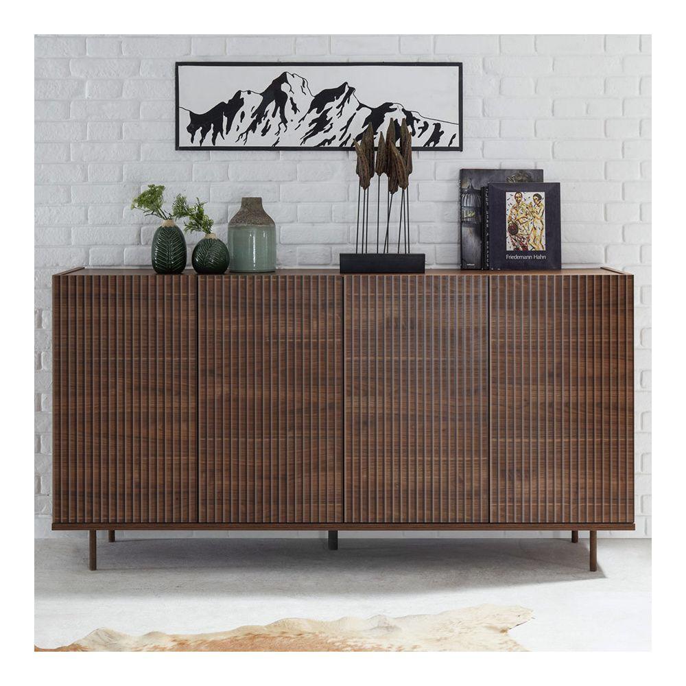 Sofamobili Enfilade 180 cm couleur noyer contemporaine PESCARA