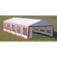 Vidaxl vidaXL Toile de rechange pour tente réception 10 x 5 m en rouge et blanc