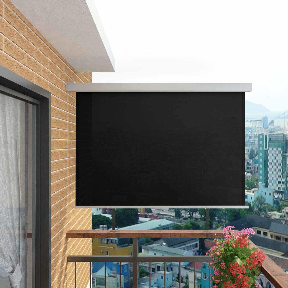 Vidaxl Auvent latéral de balcon multifonctionnel 180 x 200 cm Noir - Vie en extérieur - Pelouses et jardins | Noir | Noir