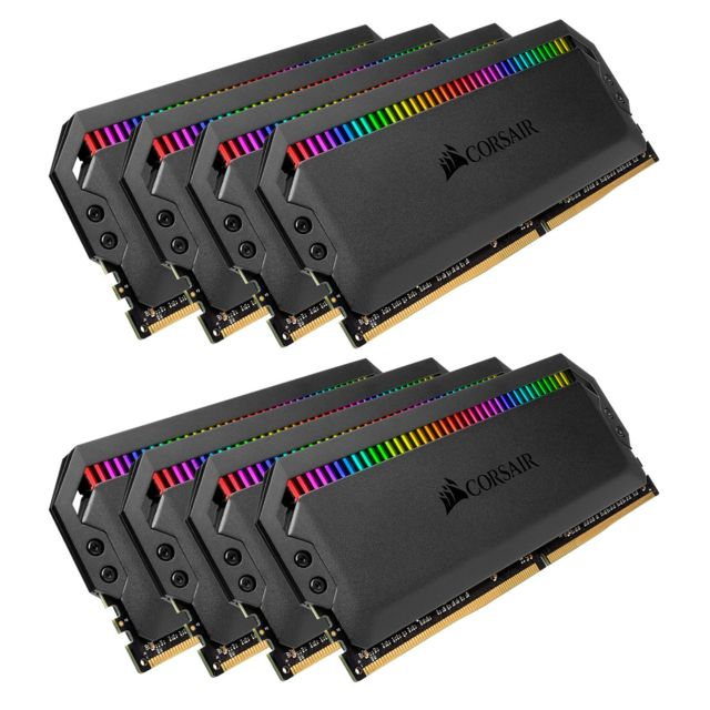Corsair - CORSAIR Dominator Platinum RGB 64 Go (8x 8Go) DDR4 3000 MHz CL15 - RAM PC