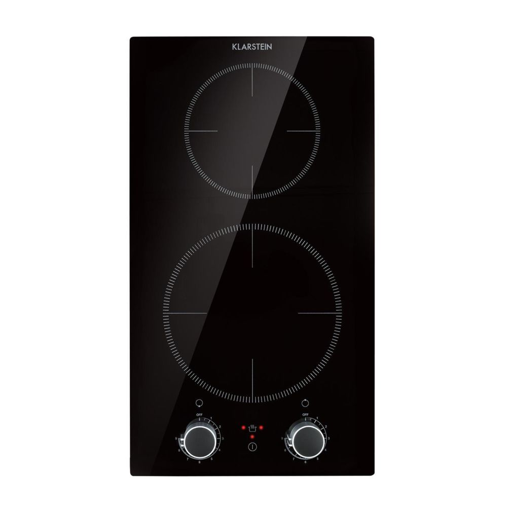 Klarstein Klarstein Kochheld Double plaque de cuisson à induction encastrable , 2900W , 9 niveaux d`intensité , verre noir