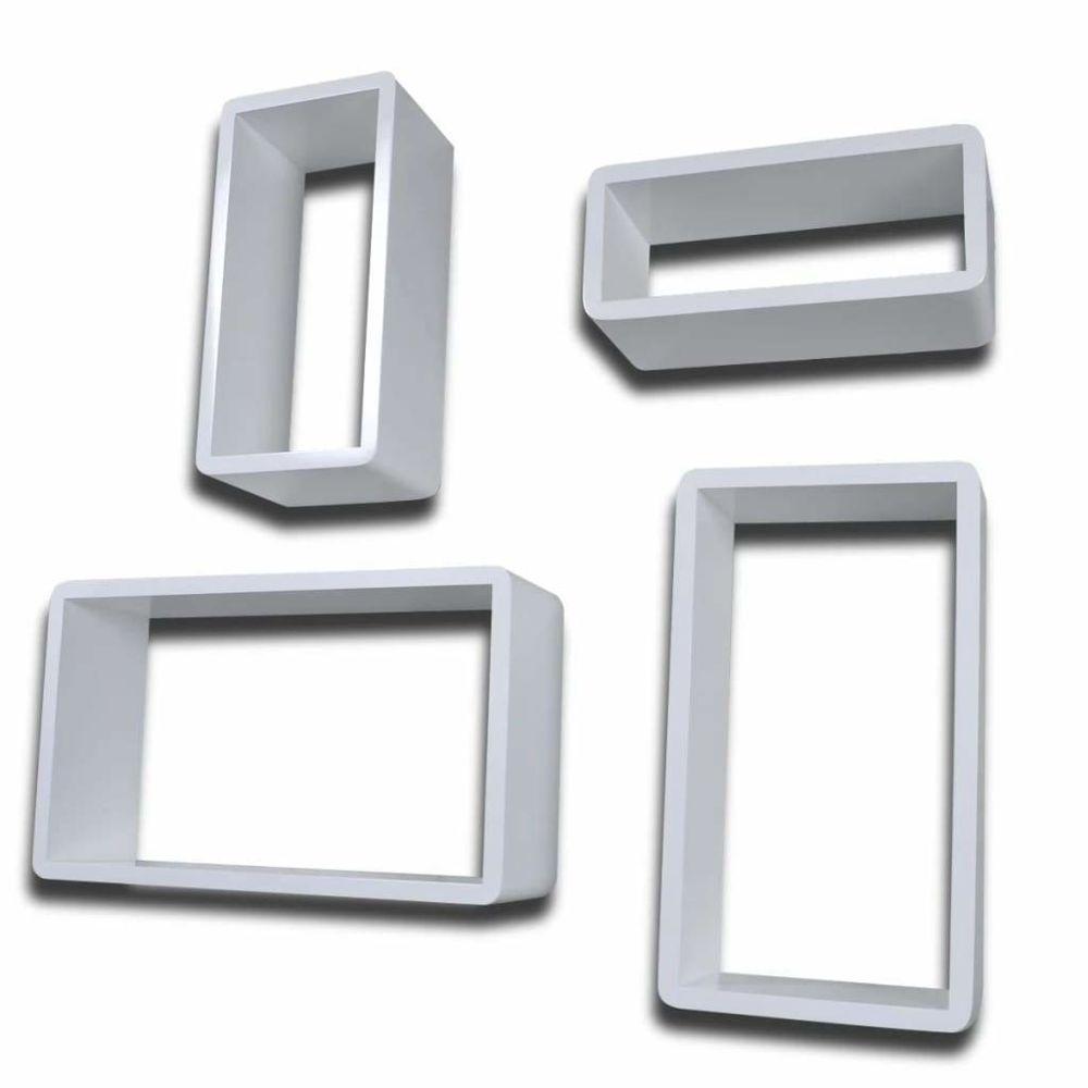 Helloshop26 Étagère armoire meuble design murales sous forme de cube 8 pcs blanc 2702236/2