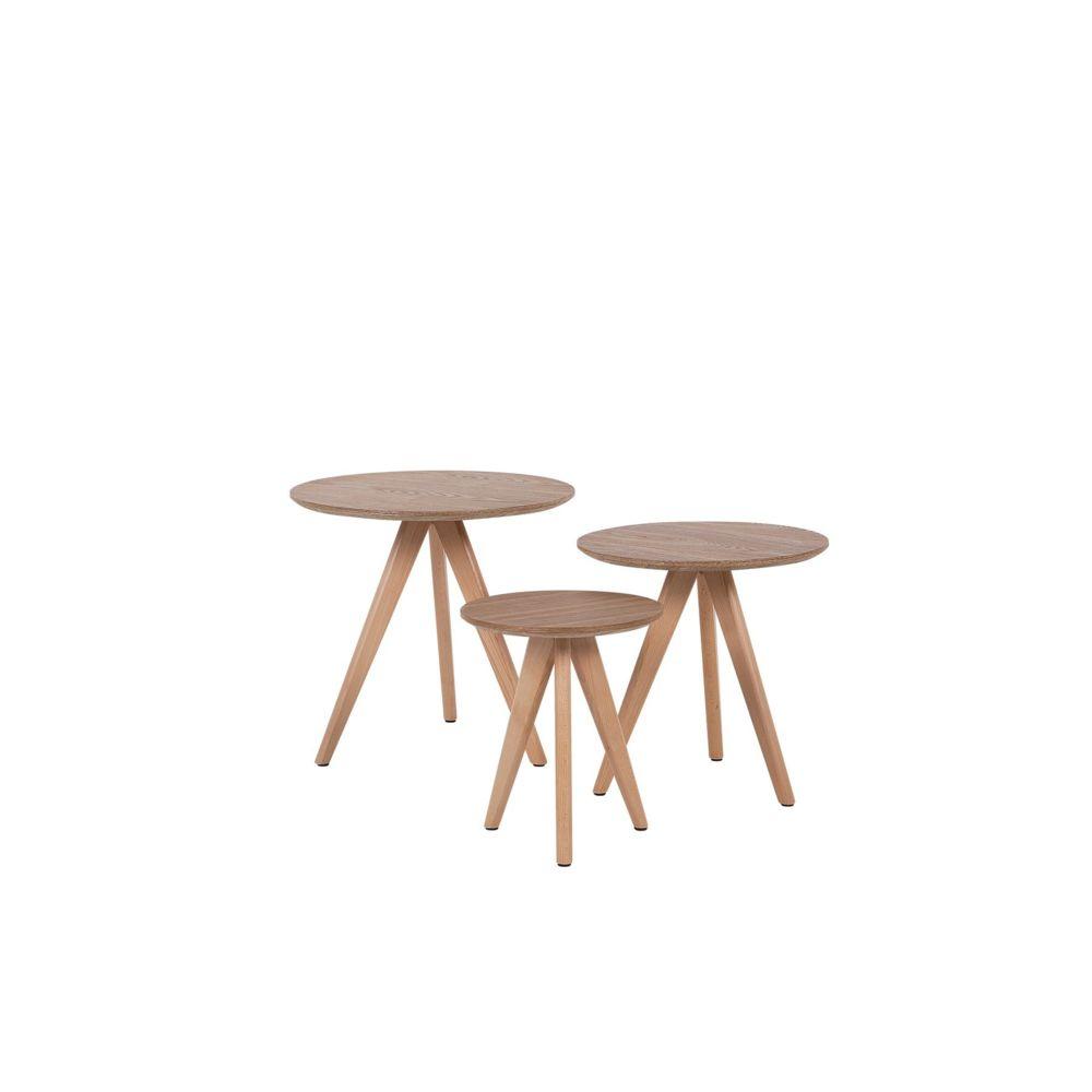 Beliani Beliani Ensemble de tables basses couleur marron VEGAS - marron