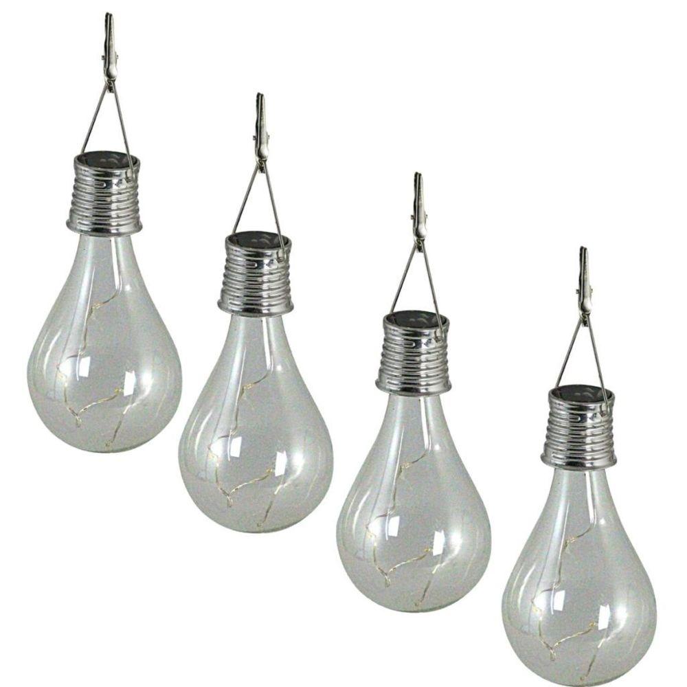 Luxform Luxform Lampe LED solaire de jardin 4 pcs Transparent 95420