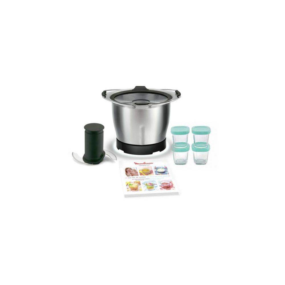 Moulinex Mini-cuve Companion + 4 pots bébé - XF387E10 - Inox