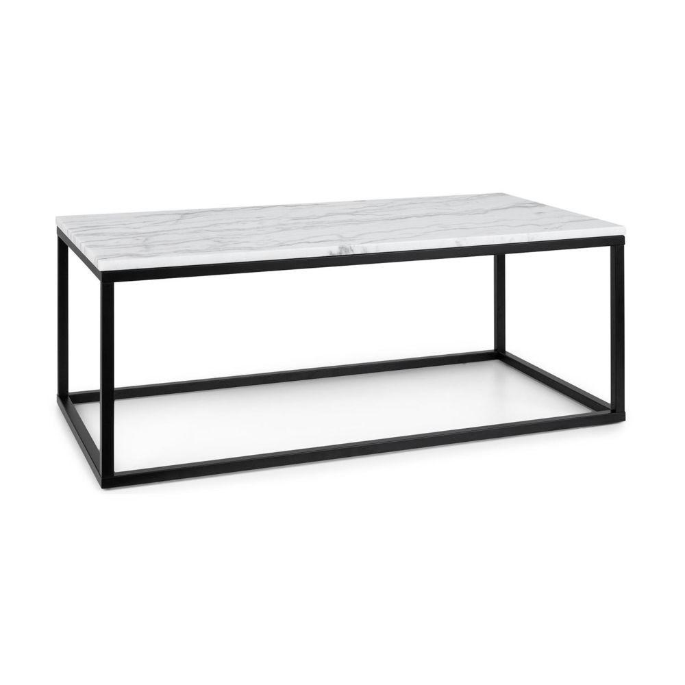 Besoa Besoa Volos T100 Table basse pour intérieur & extérieur - 100 x 40 x 50 cm - Plateau marbre noir & blanc
