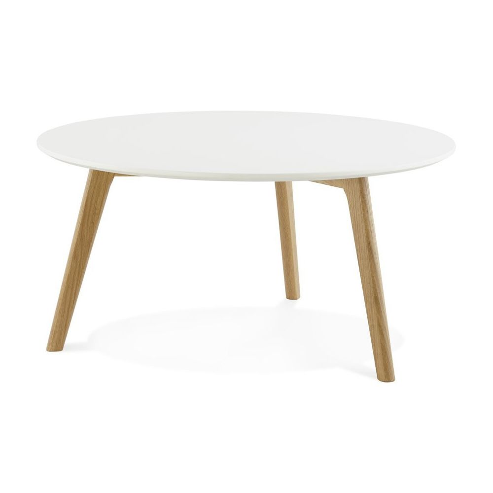 Alterego Table basse de salon ronde 'KOFY' style scandinave