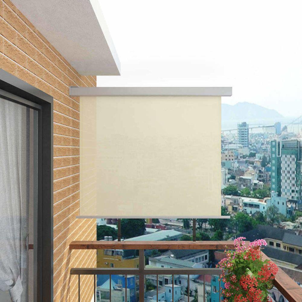 Vidaxl Auvent latéral de balcon multifonctionnel 150 x 200 cm Crème - Vie en extérieur - Pelouses et jardins | Crème | Crème