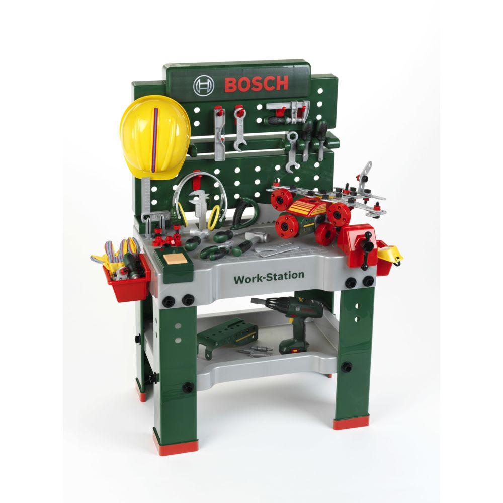 Klein Etabli bosch work-station + visseuse électronique + set de construction - 8485